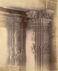 Close view of doorway and portion of shrine of Temple No. 4, Balsane